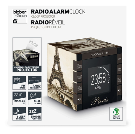 BigBen Interactive Radio Réveil - Paris