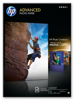 HP HP Papier photo Advanced brillant (25 feuilles/A4/210 x 297 mm)