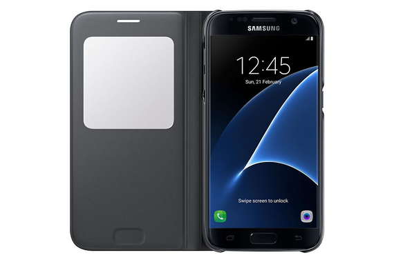 """Samsung Galaxy S7 View Cover 5.1"""" Valise repliable Noir"""