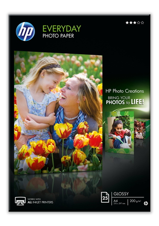 HP HP Papier photo brillant Everyday - 25 feuilles/A4/210 x 297 mm