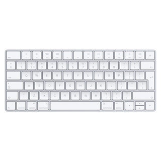 Apple Apple MLA22 Bluetooth QWERTY Anglais Argent, Blanc clavier