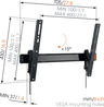 Vogels WALL 3315 Support TV - Mur