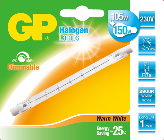 GP Lighting 047575-HLME1 105W R7s D Halogène