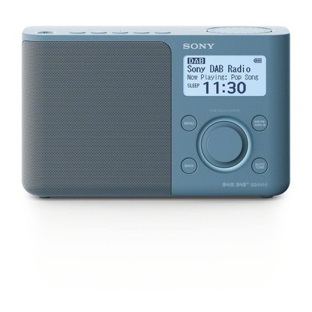 Sony XDR-S61D Personnel Bleu Radio portable