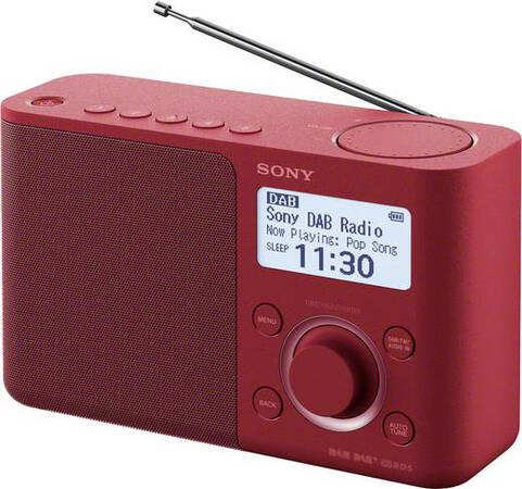 Sony XDR-S61D Personnel Rouge Radio portable