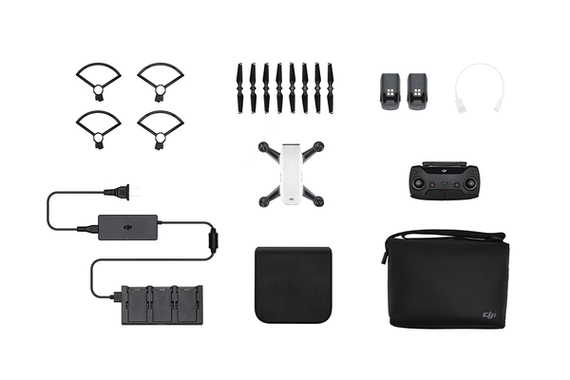 DJI Spark Fly More Combo 4rotors Blanc caméra-drone