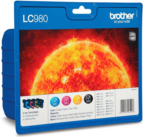 Brother LC980 4-couleurs Value Pack