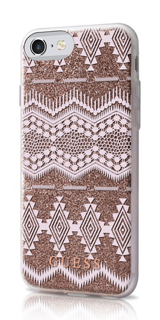 Guess Backcover Tribal pour iPhone 7 - Taupe