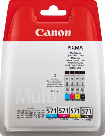 Canon CLI-571 4-couleurs Pack