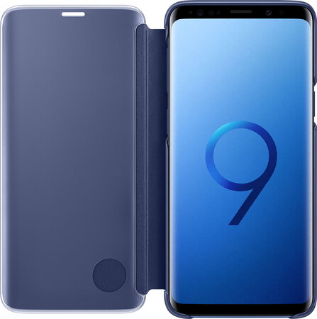 Samsung Clear View Standing Cover pour Galaxy S9 - Bleu