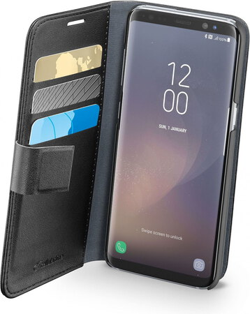 Cellular Line Wallet cover pour Galaxy S8 - Noir
