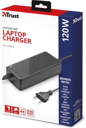 Trust Chargeur universel Plug & Go - 120 W