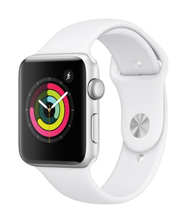 Apple Watch Series 3 42mm Argent/Blanc (M/L)