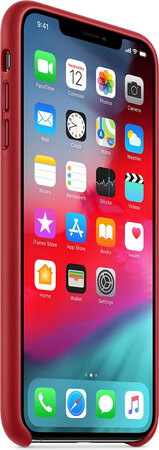 Apple Coque en cuir pour iPhone Xs Max - (product) RED™ - MRWQ2ZM/A