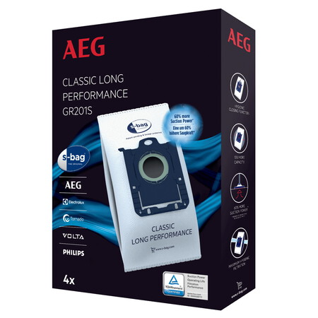 AEG Sac à poussière s-bag Classic Long Performance GR201S