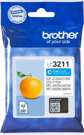 Brother LC3211C Cyan - Cartouche d'encre