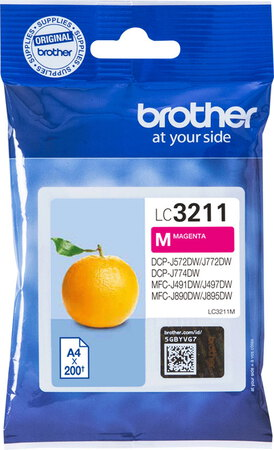 Brother Cartouche d'encre LC3211M Magenta