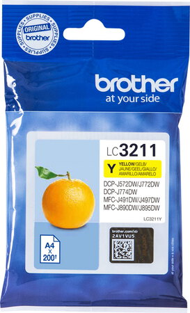 Brother Cartouche d'encre LC3211Y Jaune