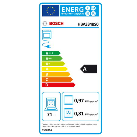 Bosch Four encastrable HBA334BS0 EcoClean Direct