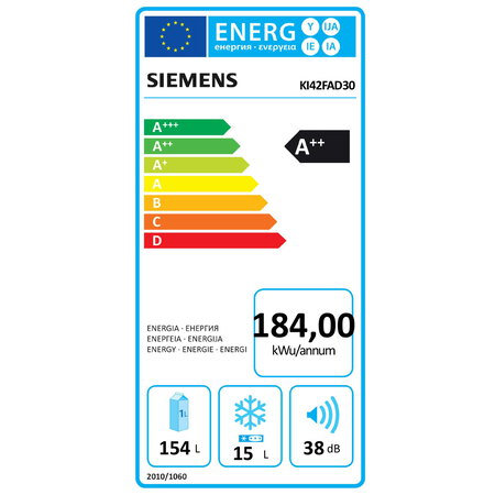 Siemens Frigo encastrable KI42FAD30 coolEfficiency