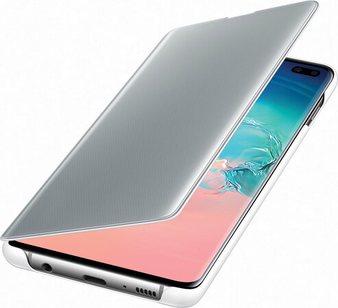 Samsung Clear View cover pour Galaxy S10+ - Blanc