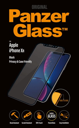 Panzerglass Film de protection privacy screen pour iPhone Xr - Noir