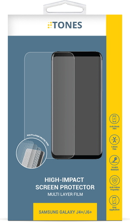 Tones Film de protection high-impact pour Galaxy J4+ ou J6+