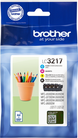 Brother Valuepack LC-3217 CMYK - 4 couleurs