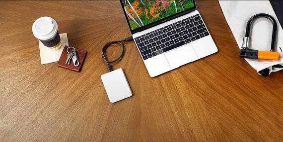 Lacie Mobile Drive USB C Moon Silver - 1 To