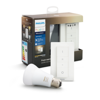 PHILIPS HUE Kit ampoule E27 et switch - White ambiance 8718696678404