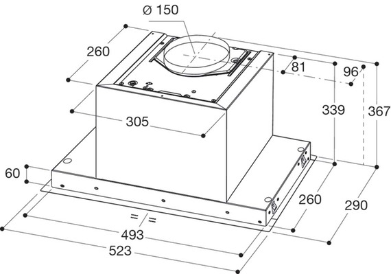 Whirlpool Groupe d'aspiration WAG HID 53F LE