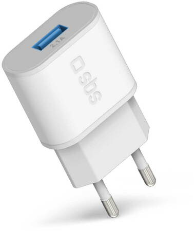 SBS Chargeur courant avec Fast Charge - 1x USB - Blanc