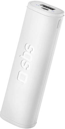 SBS Power Bank Dual Charge - 2.500 mAh - Blanc