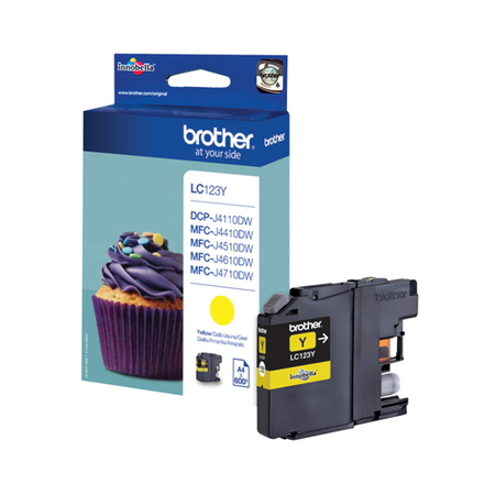 Brother Cartouches d'encre Jaune LC-123Y