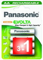 Panasonic Pack 4 piles rechargeables AA