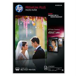 HP Papier photo brillant Premium Plus (50 feuilles – A4)