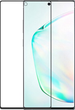 Azuri Curved Tempered Glass RINOX ARMOR pour Galaxy Note 10 - Noir