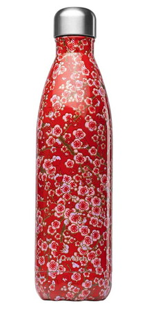 Qwetch Bouteille isotherme FlowersRed 75cl QD3276