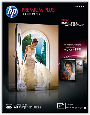 HP Papier photo Premium Plus 13x18 brillant