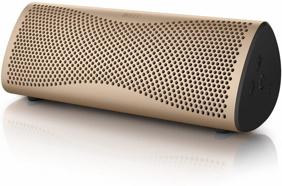 KEF MUO Enceinte Bluetooth Or