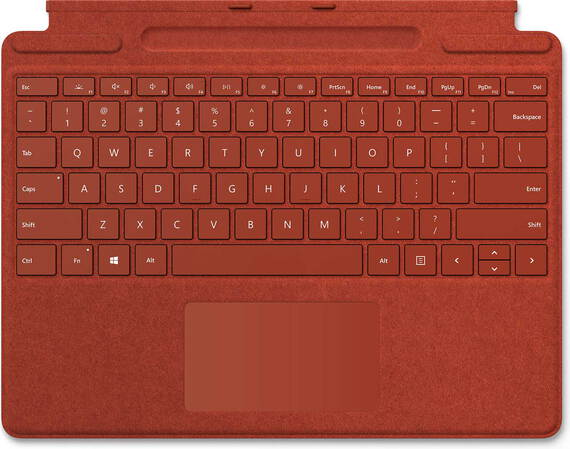 Microsoft Pack clavier Signature Keyboard avec stylet Slim Pen -  Rouge Coquelicot