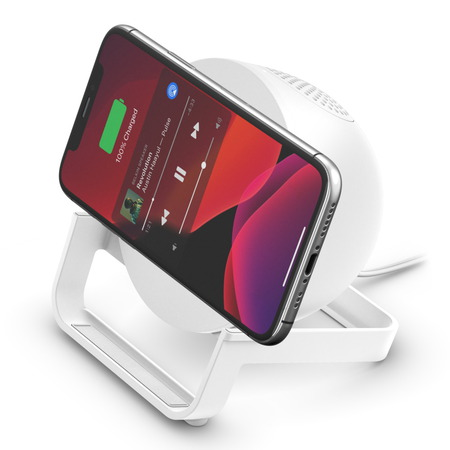 Belkin Chargeur à induction BOOST↑CHARGE™ Stand et enceinte - Blanc