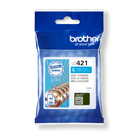 Brother LC421C Cartouche d'encre Cyan
